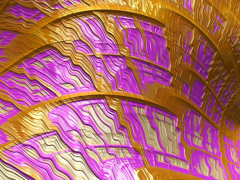 Fractal Art Wallpaper, Pink And Gold