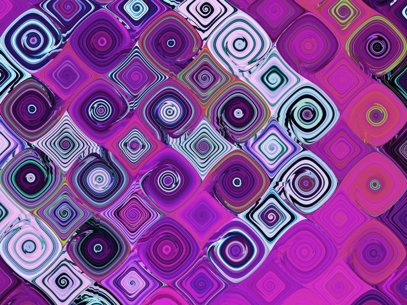 Fractal Art Wallpaper, Pink Mosaic