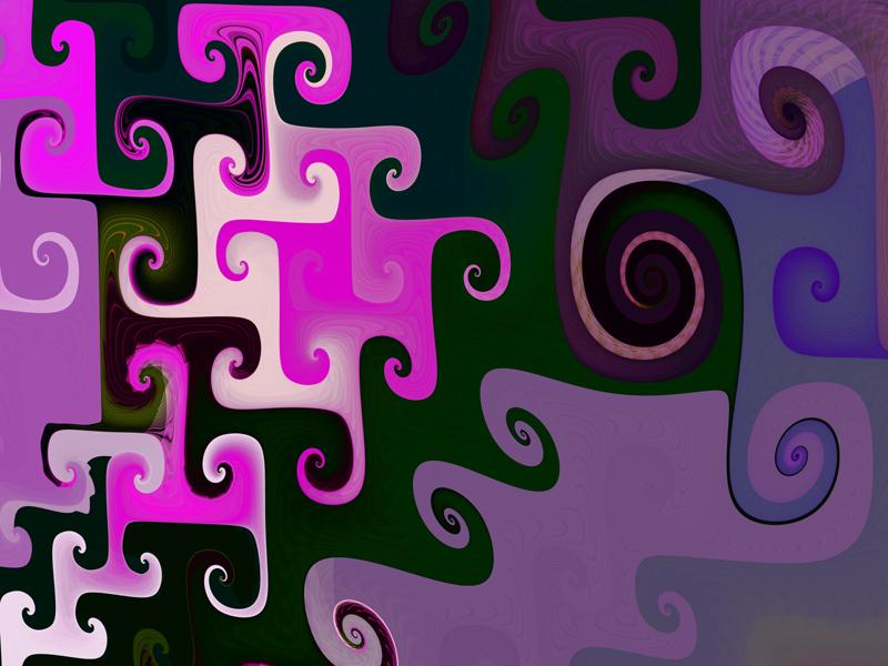 Fractal Art Wallpaper, Pink Twist