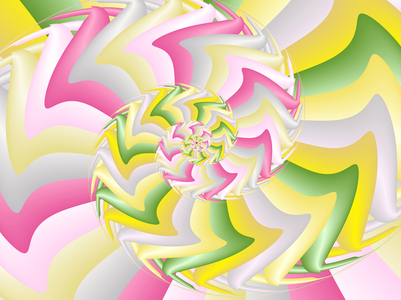 Fractal Art Wallpaper, Pink Yellow Early Spring