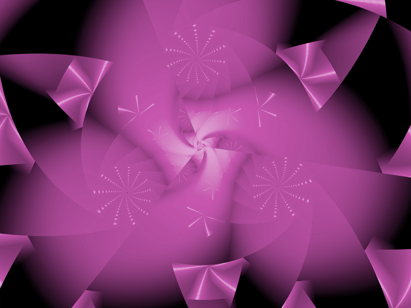 Fractal Art Wallpaper, Pretty In Pink
