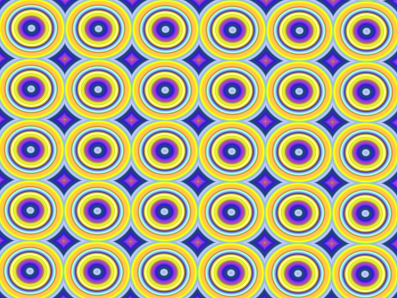 Fractal Art Wallpaper, Purple Gold Pattern