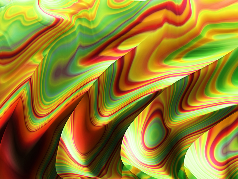 Fractal Art Wallpaper, Rasta Red Green Gold
