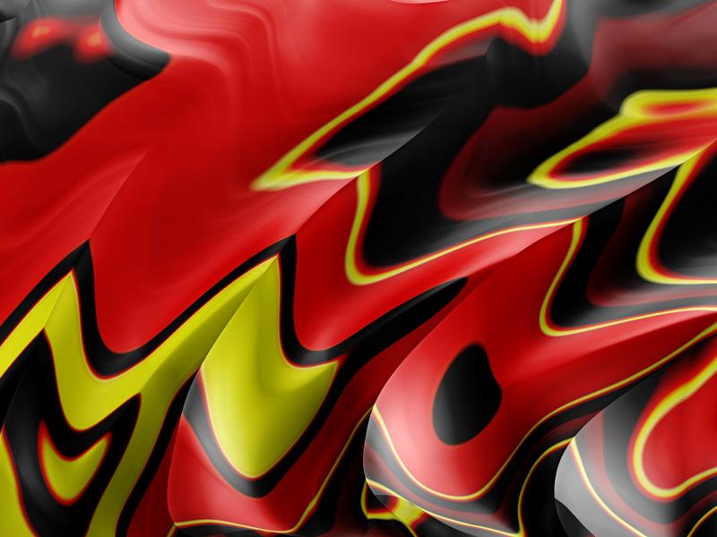 Fractal Art Wallpaper, Red Black Yellow Frax