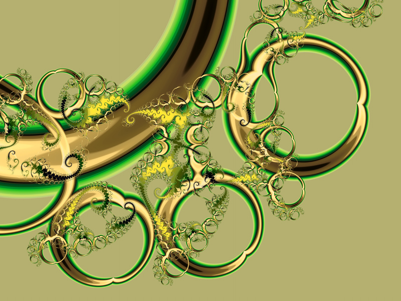 Fractal Art Wallpaper, Rings Of Desire