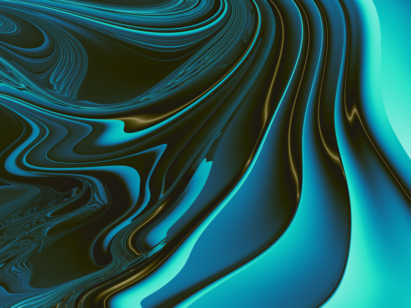 Fractal Art Wallpaper, Sea Wave