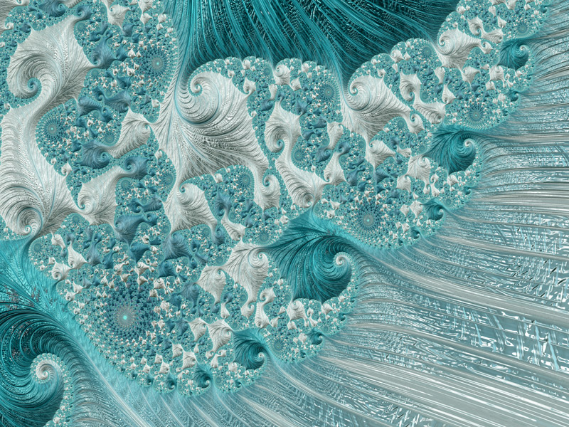 Fractal Art Wallpaper, Seahorse Wave