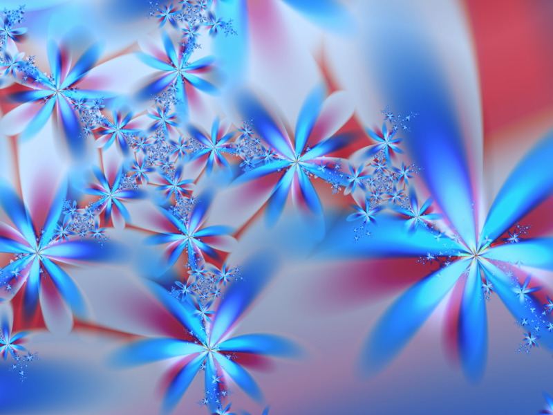 Fractal Art Wallpaper, Seven Petals