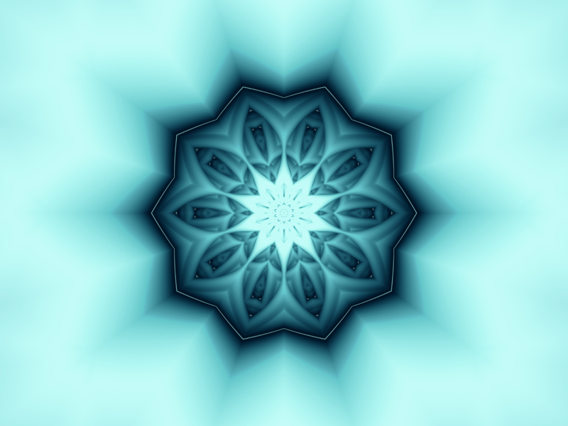 Fractal Art Wallpaper, Snowflake 2