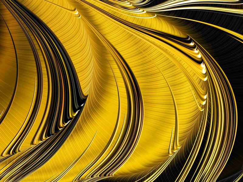 Fractal Art Wallpaper, Spun Gold