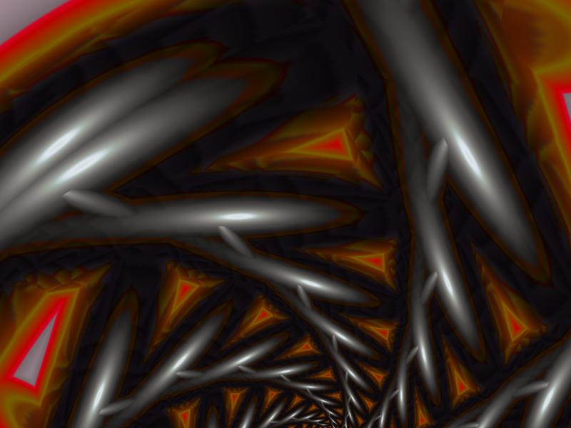 Fractal Art Wallpaper, Steel
