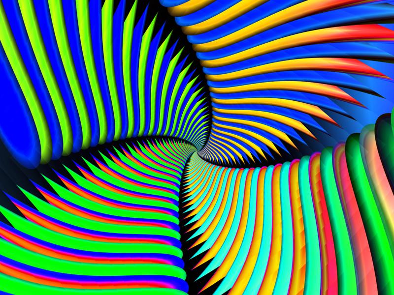 Fractal Art Wallpaper, Stripes 3