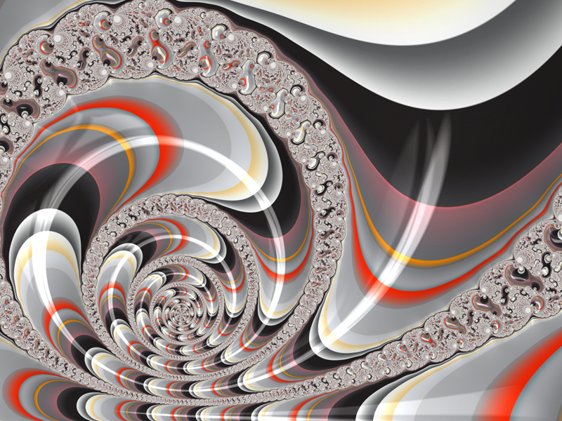 Fractal Art Wallpaper, The Red And The Black