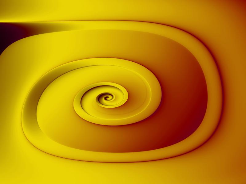 Fractal Art Wallpaper, Yellow 2