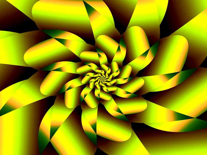 Fractal Art Wallpaper, Yellow Rose