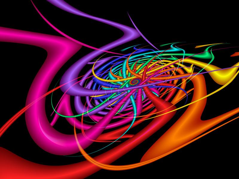 Fractal Art Wallpaper, Alien Waves