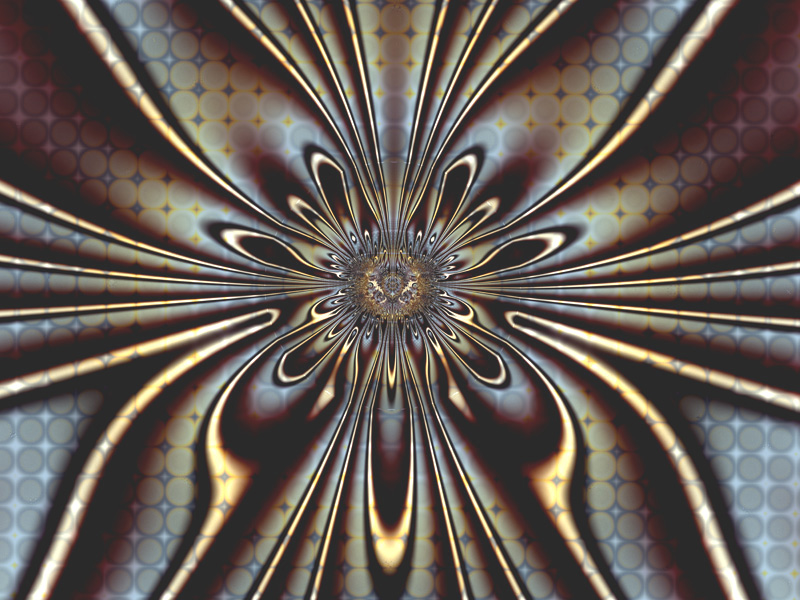 Fractal Art Wallpaper, Amber