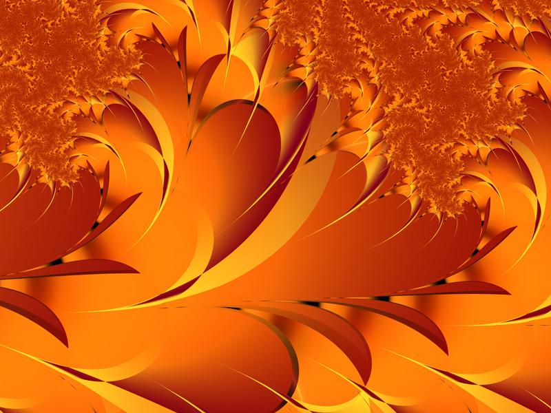 Fractal Art Wallpaper, Autumn Glory