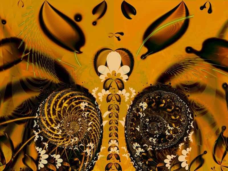 Fractal Art Wallpaper, Autumn Song 2
