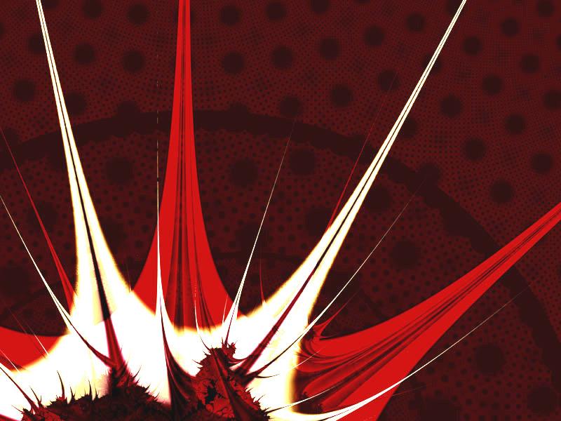 Fractal Art Wallpaper, Blaze
