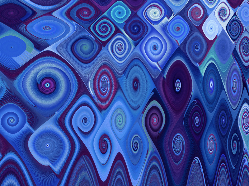 Fractal Art Wallpaper, Blue Cascade