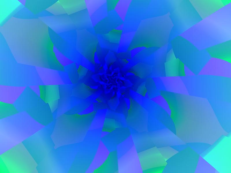 Fractal Art Wallpaper, Blue Center