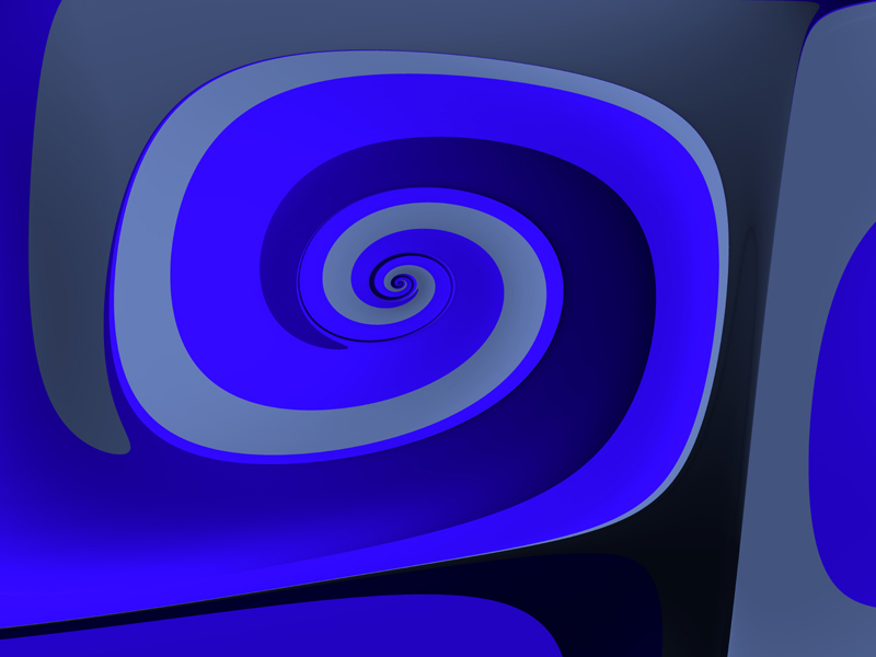 Fractal Art Wallpaper, Blue Curve