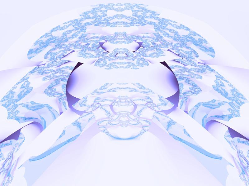 Fractal Art Wallpaper, Blue Lace