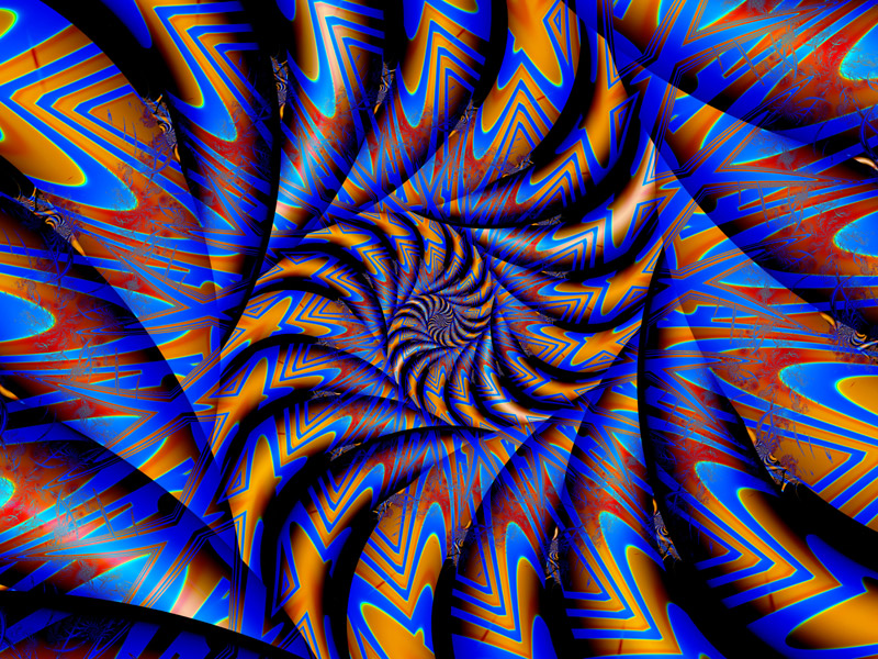 Fractal Art Wallpaper, Blue Lines 2