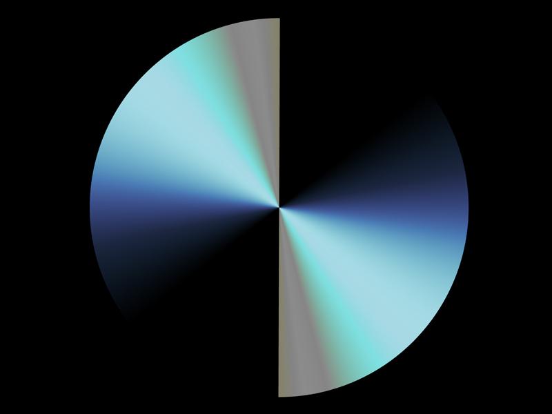 Fractal Art Wallpaper, Blue Moon 2
