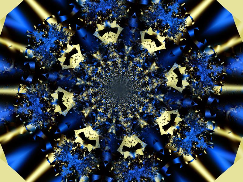 Fractal Art Wallpaper, Blue Ribbon