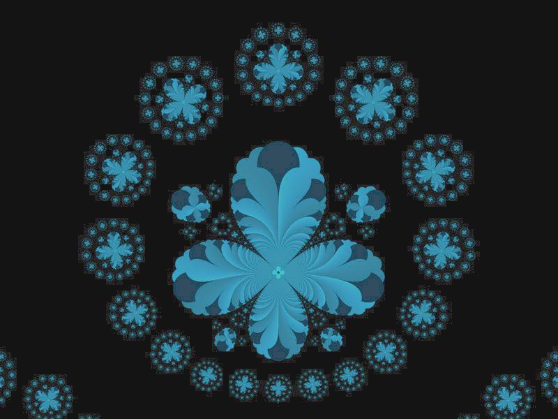 Fractal Art Wallpaper, Blue Ring