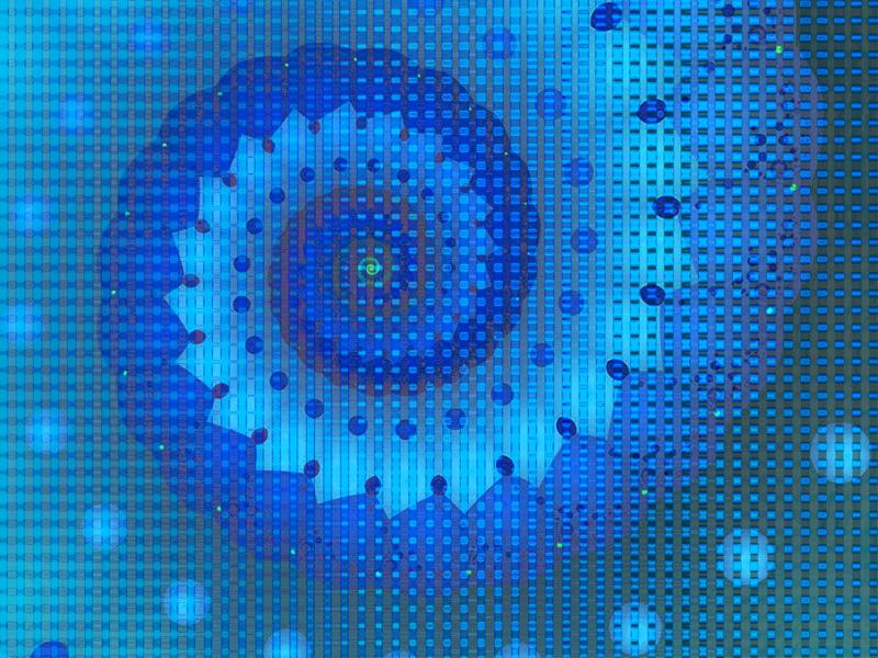 Fractal Art Wallpaper, Blue Squares