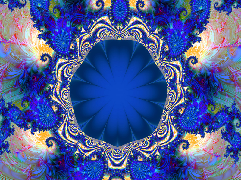 Fractal Art Wallpaper, Blue Tuesday