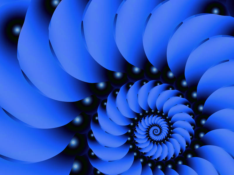 Fractal Art Wallpaper, Blue Velvet 2