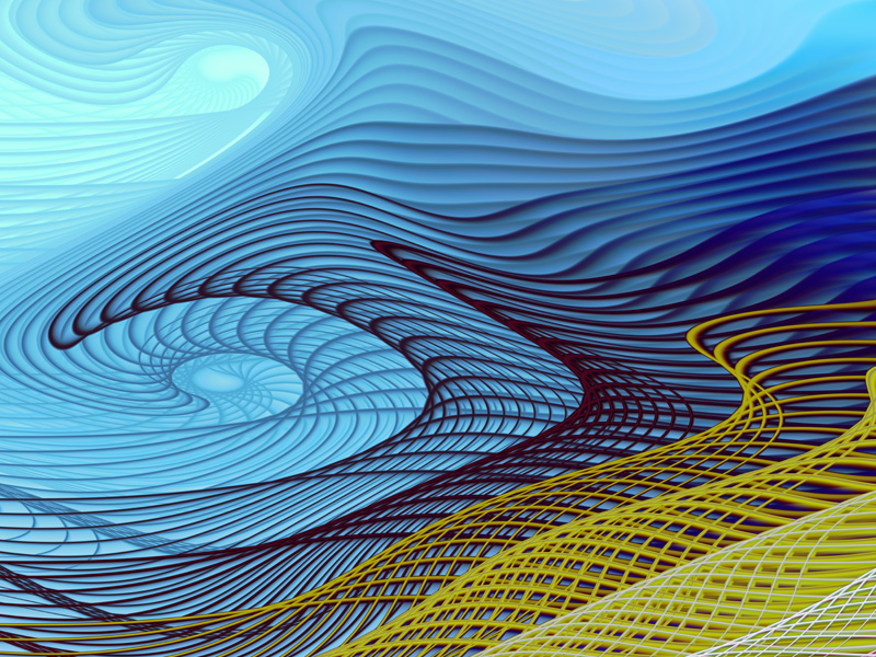 Fractal Art Wallpaper, Blue Wind