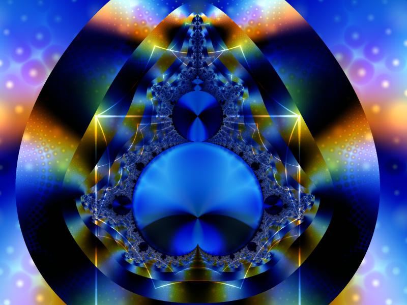 Fractal Art Wallpaper, Blue Wonder