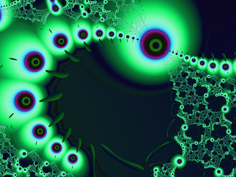 Fractal Art Wallpaper, Bright Watchers 2