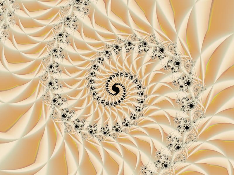 Fractal Art Wallpaper, Caramel