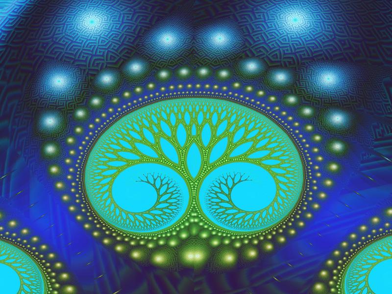 Fractal Art Wallpaper, Celestial Forest