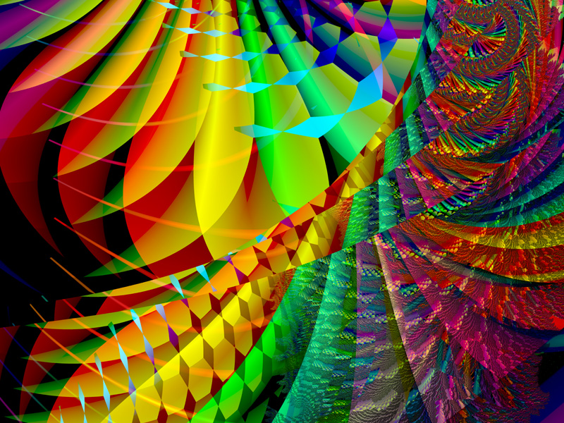 Fractal Art Wallpaper, Color 12