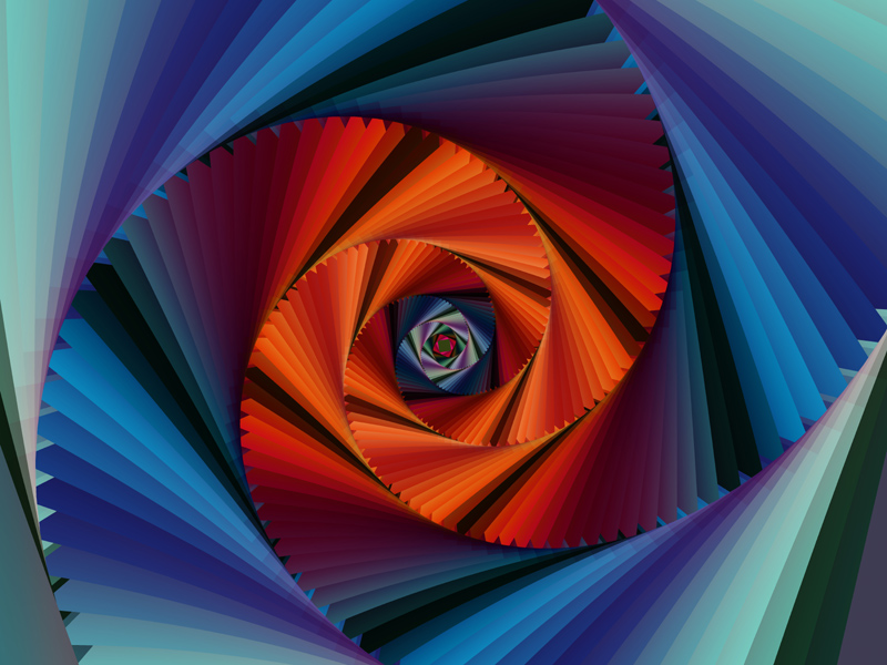 Fractal Art Wallpaper, Color 18