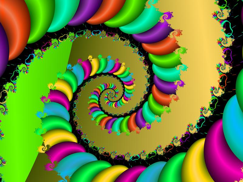 Fractal Art Wallpaper, Color 19