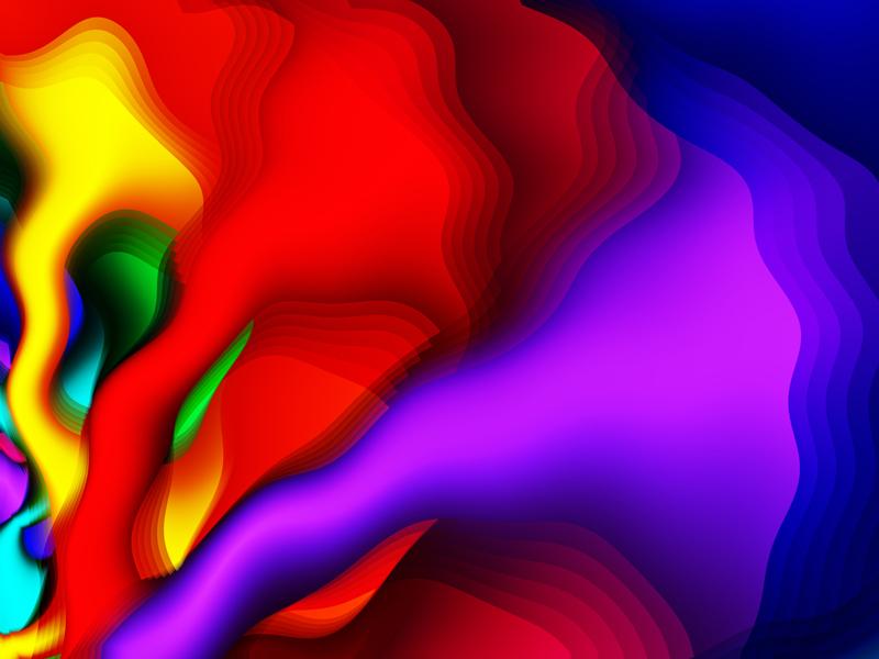 Fractal Art Wallpaper, Color 21
