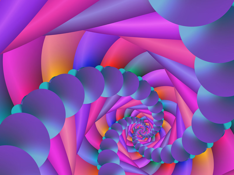 Fractal Art Wallpaper, Color 8 Wallpaper