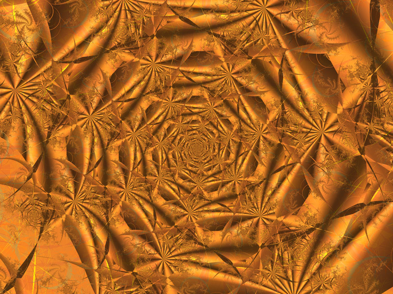 Fractal Art Wallpaper, Copper 2