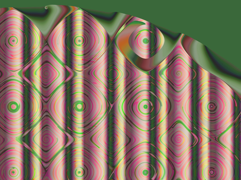 Fractal Art Wallpaper, Curtain 2 Wallpaper
