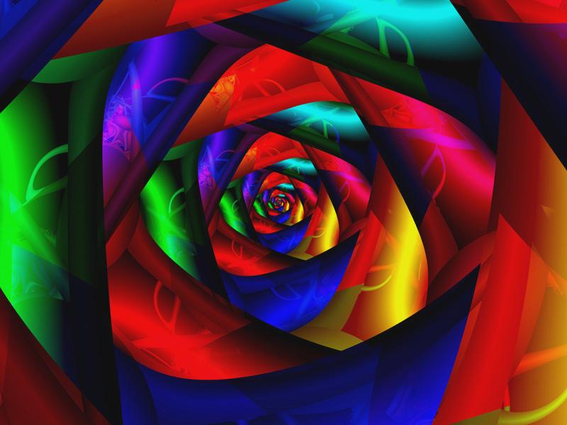 Fractal Art Wallpaper, Dark Flower