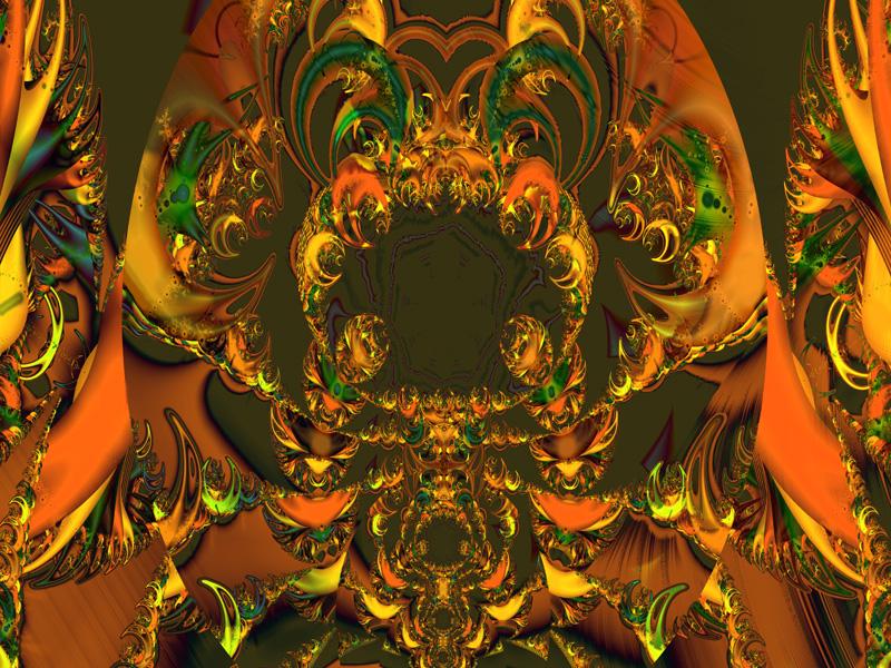 Fractal Art Wallpaper, Demon Throne