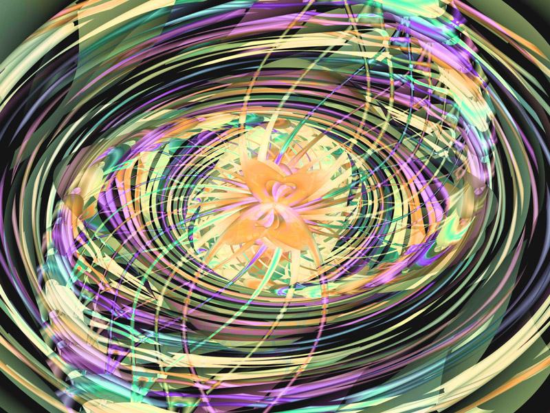 Fractal Art Wallpaper, Entanglement